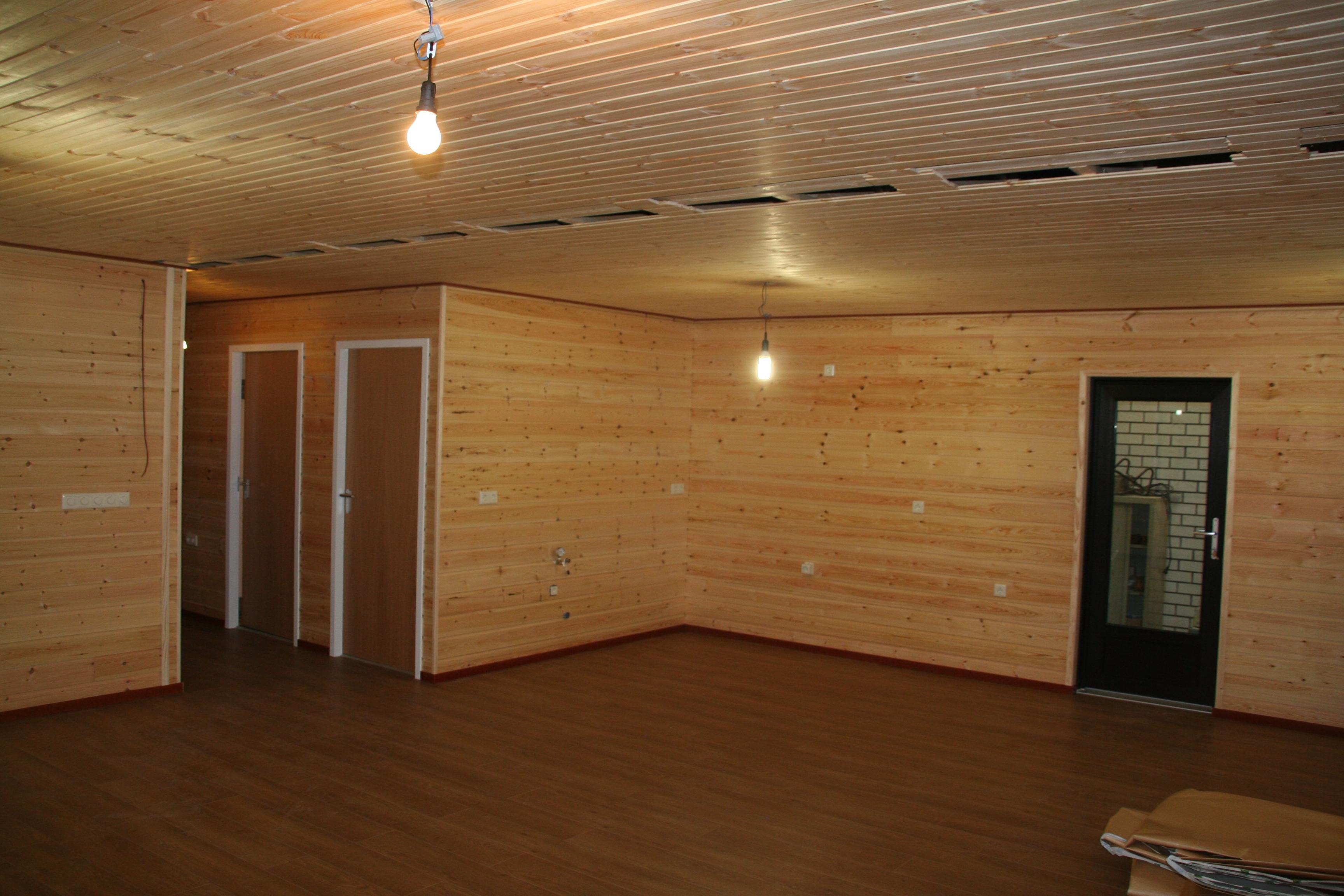 Aus der Produktion - Innenwände mit Holz verkleiden