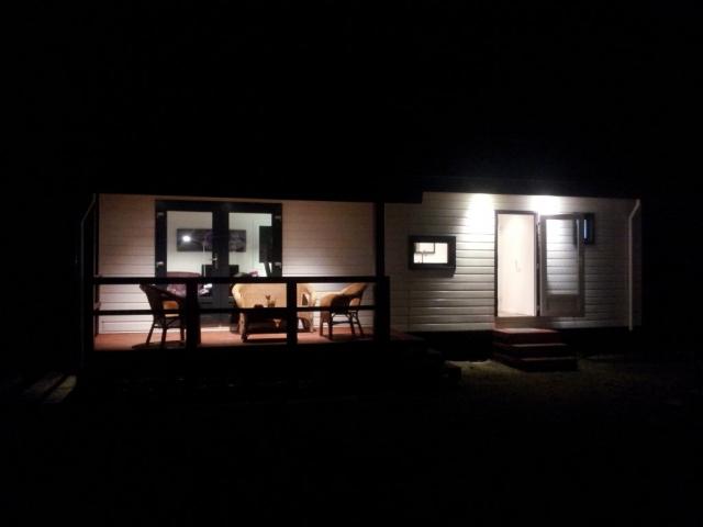 Unser Ausstellungsmodell bei Nacht