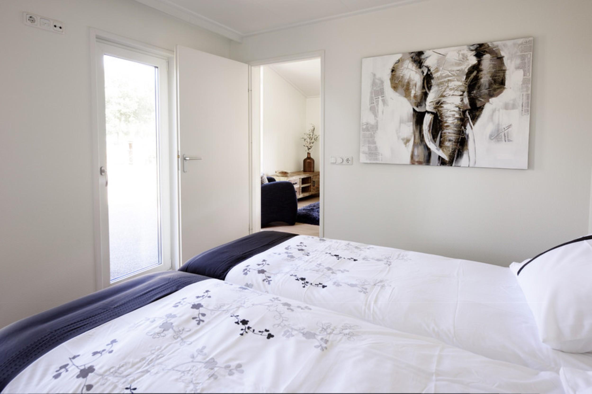 Mobilheim EcoSun Blick ins Schlafzimmer
