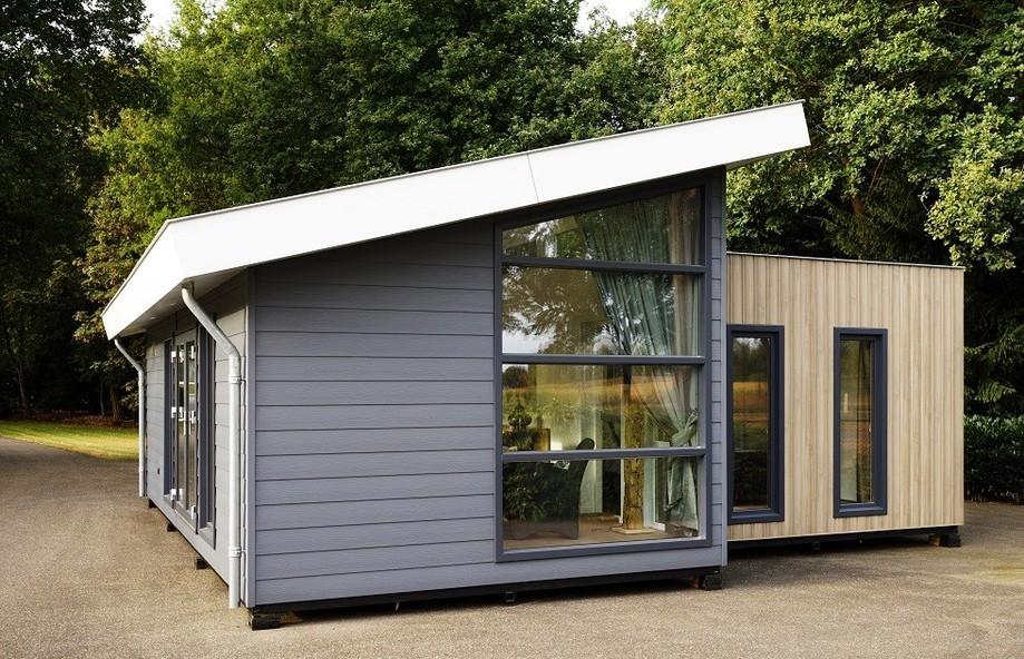 Ansicht Modell EcoSun mit Pult- und Flachdach, dachhohen Fenstern