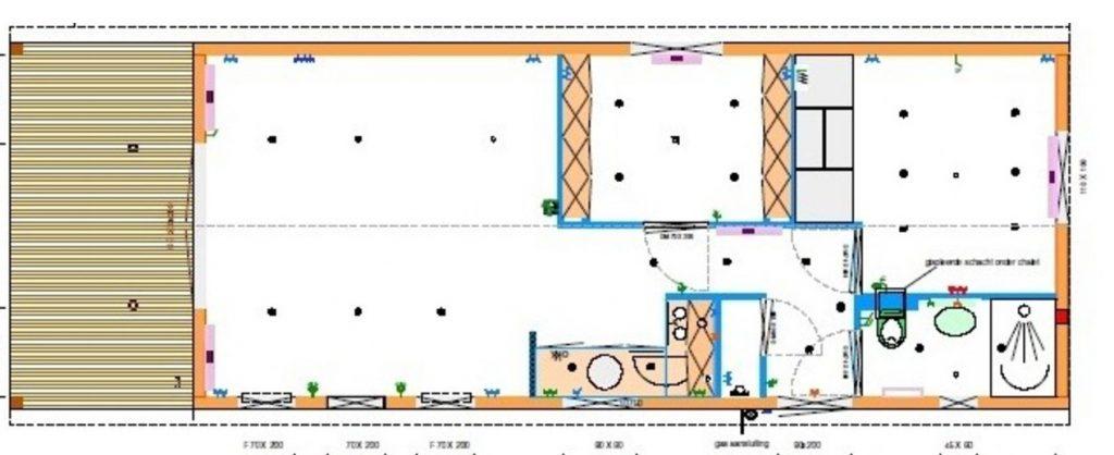 Grundriss Mobilheim Holiday 4,50 x 13,00 m