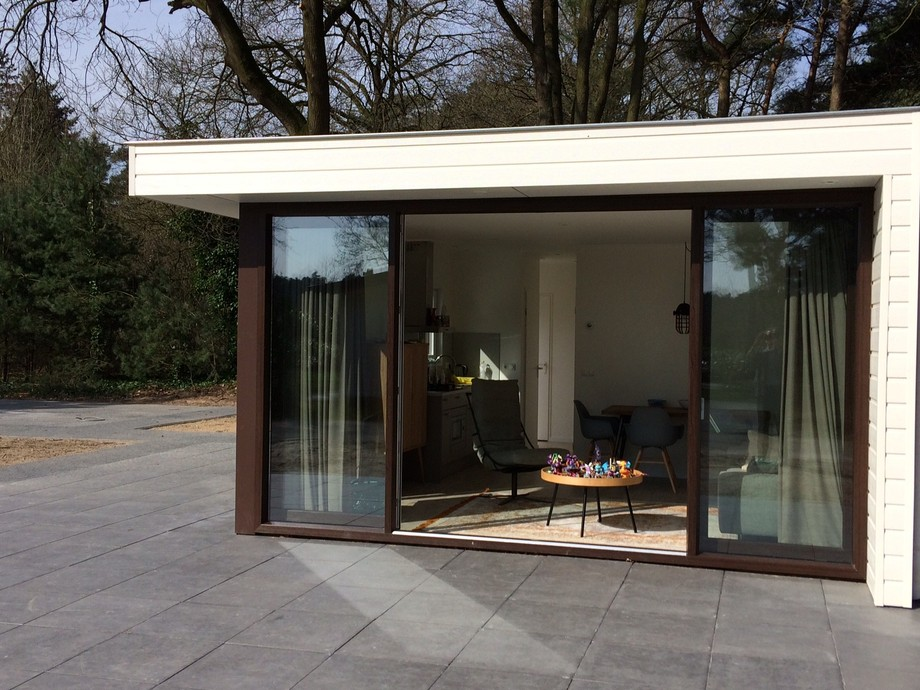 Ansicht Mobilheim Tiny House Fensterfront, Hersteller Starline
